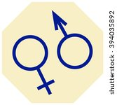 male and female symbols  ... | Shutterstock .eps vector #394035892