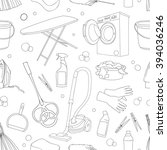 doodle pattern set of cleanup | Shutterstock . vector #394036246