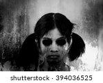 ghost girl  horror background... | Shutterstock . vector #394036525