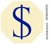 dollars sign icon. usd currency ... | Shutterstock .eps vector #394043992