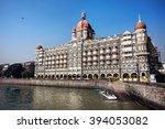 taj mahal hotel famous building ... | Shutterstock . vector #394053082