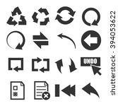 undo icon set