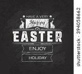 hand lettering happy easter... | Shutterstock . vector #394058662