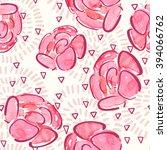 watercolor seamless pattern... | Shutterstock .eps vector #394066762