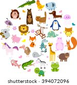 vector illustration of cute... | Shutterstock .eps vector #394072096