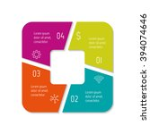 square infographic banner with...   Shutterstock .eps vector #394074646