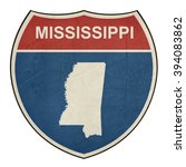 mississippi american interstate ... | Shutterstock . vector #394083862