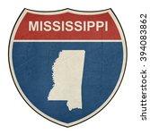 mississippi american interstate ... | Shutterstock . vector #394083862