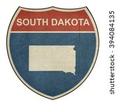 grunge south dakota american... | Shutterstock . vector #394084135
