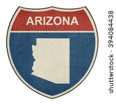 arizona american interstate... | Shutterstock . vector #394084438