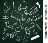 hand drawing vector arrow... | Shutterstock .eps vector #394086346