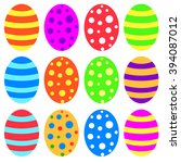 easter eggs | Shutterstock .eps vector #394087012