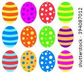 easter eggs | Shutterstock .eps vector #394087012