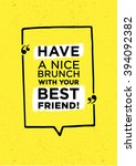 have nice brunch inscription | Shutterstock .eps vector #394092382