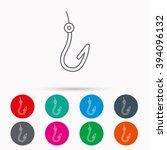 fishing hook icon. fisherman...   Shutterstock .eps vector #394096132
