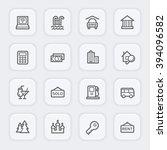 travel web icons set | Shutterstock .eps vector #394096582