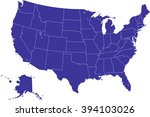 modern color map   usa with... | Shutterstock .eps vector #394103026