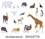 african,african animals,animals,arctic,arctic animals,arctic fox,banteng,bear,blackbuck,california sea lion,camel,collage,collage style,collection,color
