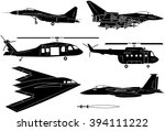 fighter aircraft icon set | Shutterstock .eps vector #394111222
