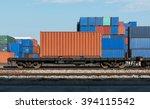 railway cargo containers... | Shutterstock . vector #394115542