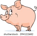 cute vector pig isolated on...