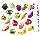 fruit ands vegetable emoji set  ... | Shutterstock .eps vector #394130926