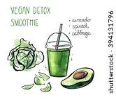 vector illustration of vegan... | Shutterstock .eps vector #394131796