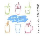 vector set of hand drawn doodle ... | Shutterstock .eps vector #394132105