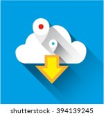 flat laconic icon logo of cloud ...
