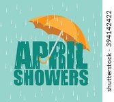 Umbrella In The Rain. April...