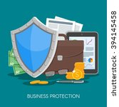business protection concept... | Shutterstock .eps vector #394145458