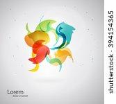 abstract spa health beauty logo ... | Shutterstock .eps vector #394154365