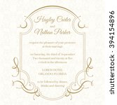 graphic design page. wedding... | Shutterstock .eps vector #394154896