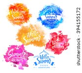 vector collection of summer and ... | Shutterstock .eps vector #394155172