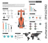 racing infographic | Shutterstock .eps vector #394162582