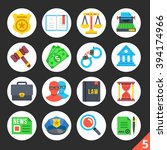 round flat icons for web sites  ...   Shutterstock .eps vector #394174966