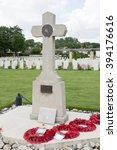 Small photo of 6th Airborne Division Cross at Ranville Cemetery,Normandy, France.