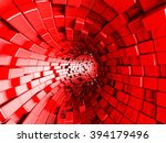 Red Tunnel Abstract...
