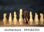chess pieces and game board... | Shutterstock . vector #394182352