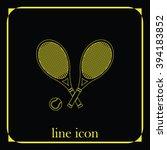 tennis rackets icon. flat... | Shutterstock .eps vector #394183852