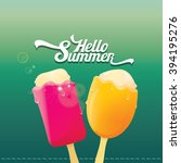 hello summer vector... | Shutterstock .eps vector #394195276