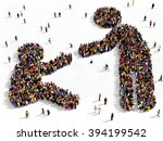 large and diverse group of... | Shutterstock . vector #394199542