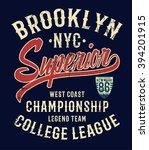 college new york typography  t...   Shutterstock .eps vector #394201915