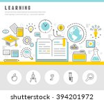 learning line icons set. | Shutterstock .eps vector #394201972