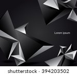 abstract black and white vector ... | Shutterstock .eps vector #394203502
