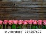 side border of beautiful fresh...   Shutterstock . vector #394207672
