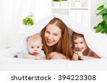 happy family mother and two... | Shutterstock . vector #394223308