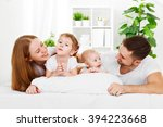 happy family mother  father and ... | Shutterstock . vector #394223668