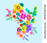floral background. handmade....   Shutterstock . vector #394230736