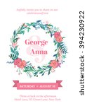 vector   invitation with... | Shutterstock .eps vector #394230922